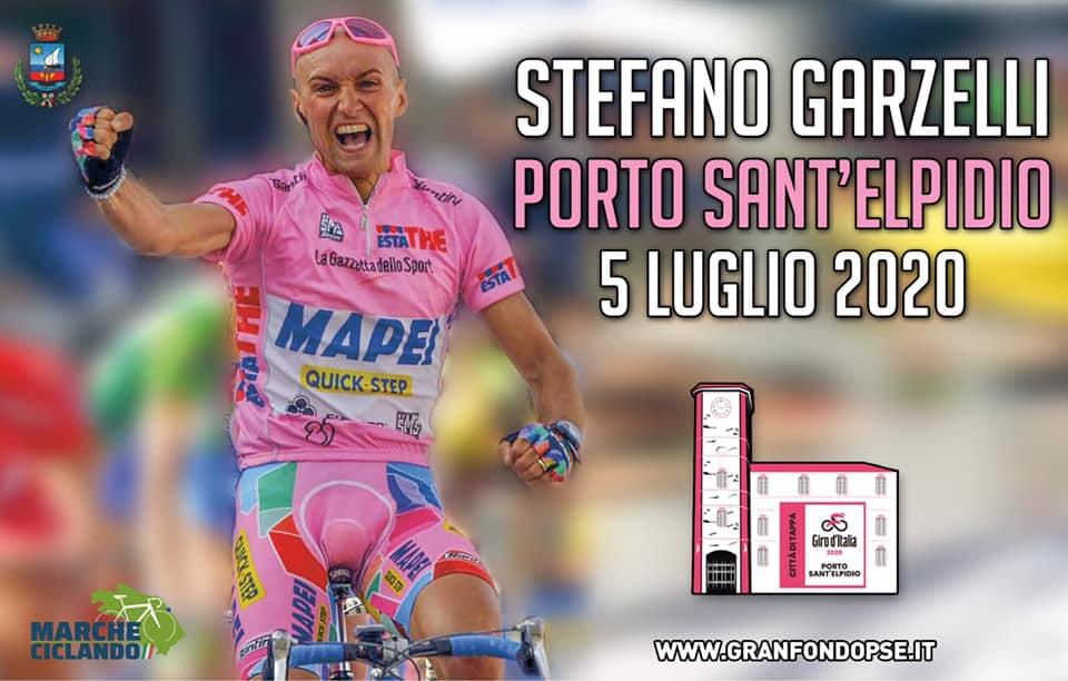 Stefano Garzelli alla Granfondo Porto Sant'Elpidio 5 Luglio 2020