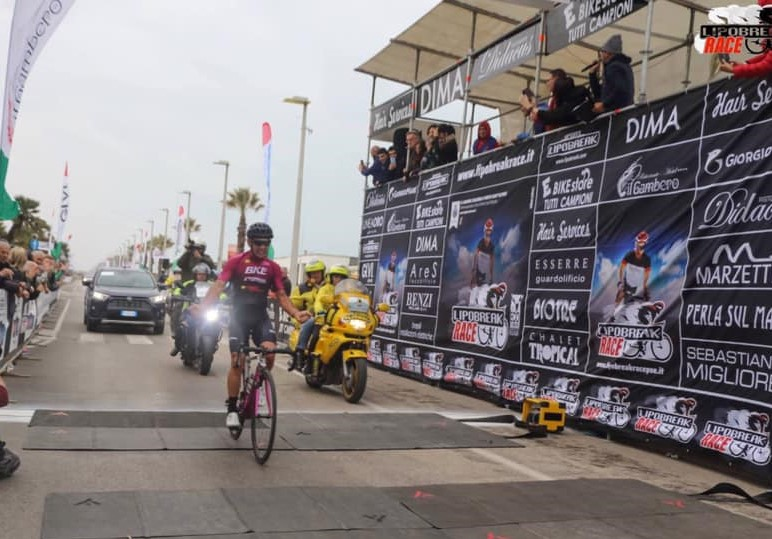 Arrivo di Zannelli alla Lipobreak Race Porto Sant'Elpidio 2019'